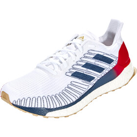adidas Solar Boost 19 Low-Cut Shoes Men footwear white/tech indigo/scarlet